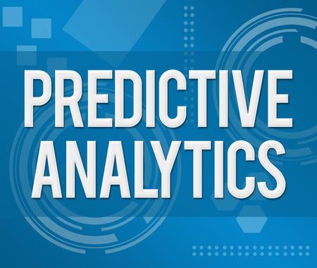 predictive: Predictive Analytics Business Background Stock Photo