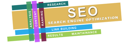 Seo Wordcloud Colorful Stripes
