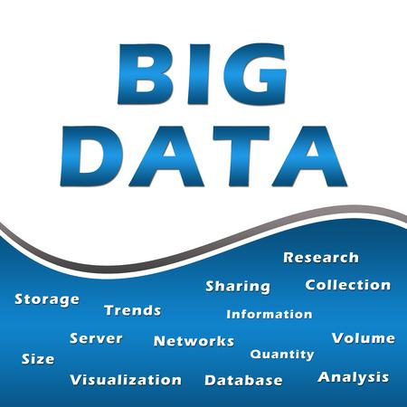 keywords: Big Data Keywords Blue Square Stock Photo