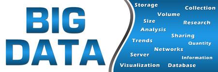 keywords: Big Data Keywords Blue Horizontal