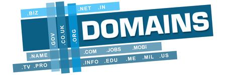domains: Domains Wordcloud Blue Stripes