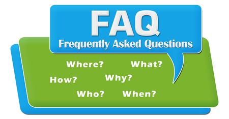 inquiry: FAQ Questions Comment Symbol Block