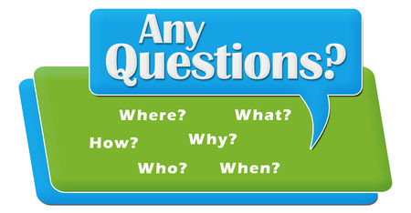 any: Any Questions Comment Symbol Block Stock Photo