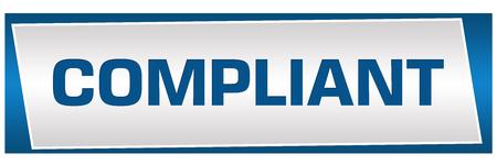 compliant: Compliant Blue Grey Block Stock Photo