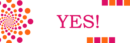 answer approve of: Yes Pink Orange Dots Horizontal Stock Photo