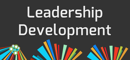 leadership development: Leadership Development Dark Colorful Elements Stock Photo