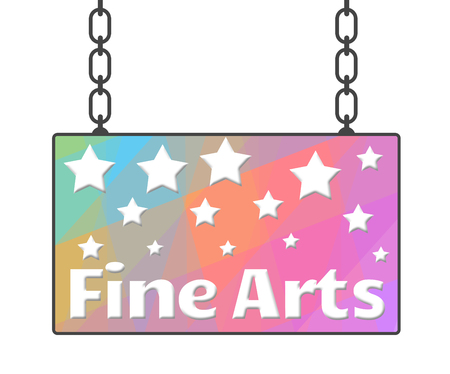 fine arts: Fine Arts Colorful Signboard Stock Photo