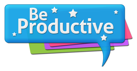 productive: Be Productive Colorful Comment Symbols