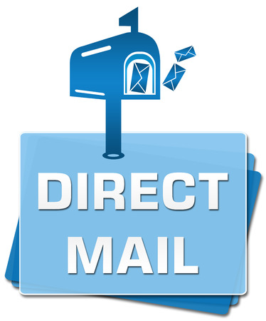 direct mail: Direct Mail Blue Bottom Squares