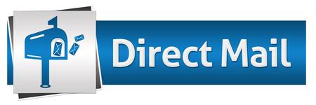 Direct Mail Blauw Grijs Horizontale Stockfoto