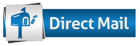 direct mail: Direct Mail Blue Grey Horizontal