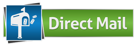 direct mail: Direct Mail Green Blue Horizontal