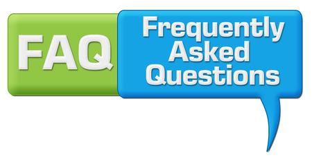 any: FAQ Green Blue Comment Symbol