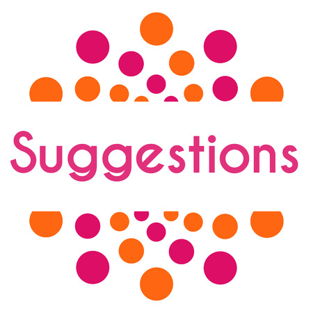 suggestions: Suggestions Pink Orange Dots Square