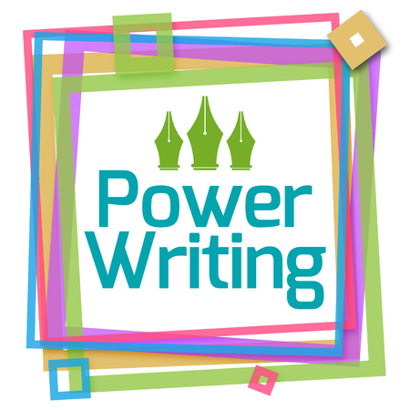 fluency: Power Writing Colorful Frame