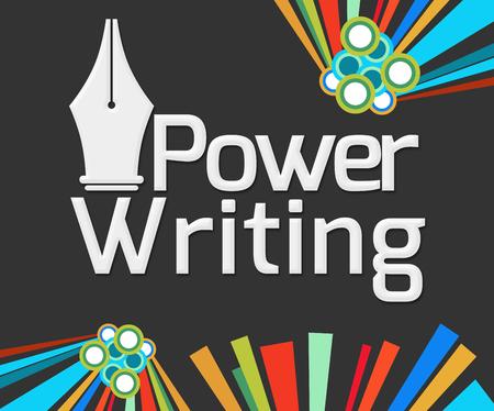 fluency: Power Writing Dark Colorful Elements