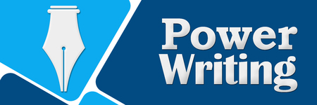 fluency: Power Writing Two Blue Color Squares Stock Photo