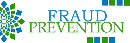 theft prevention: Fraud Prevention Green Blue Squares Elements