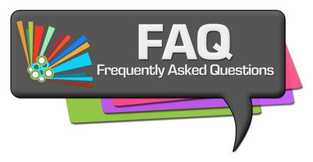 inquiry: FAQ Dark Colorful Comment Symbol