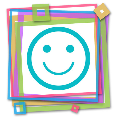 smily face: Smily Face Colorful Frame