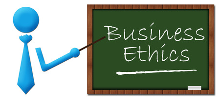 greenboard: Business Ethics Human Icon Greenboard Stock Photo