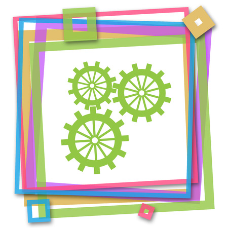 sprockets: Gears Inside Colorful Frame