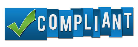 compliant: Compliant Blue Stripes With Tickmark