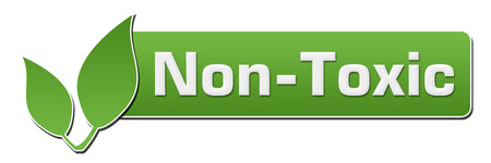 non toxic: Non Toxic Green Horizontal With Leaves