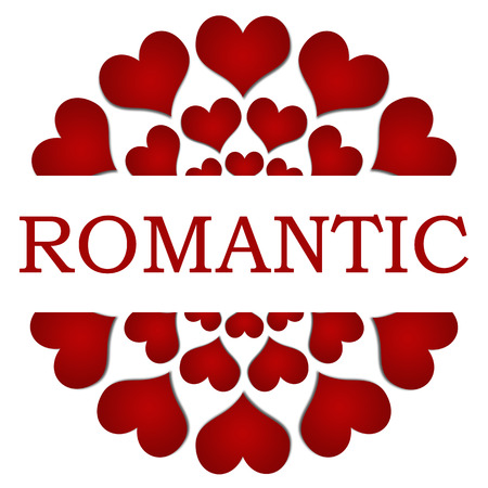 Romantic Red Hearts Circular