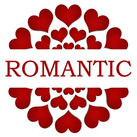 Romantische Rode Harten Circular