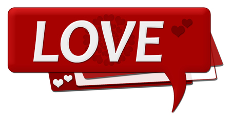 romantic: Love Romantic Comment Symbol Stock Photo