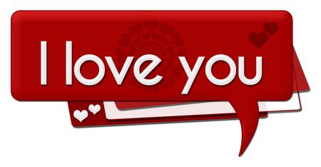 i love you symbol: I Love You Romantic Comment Symbol Stock Photo