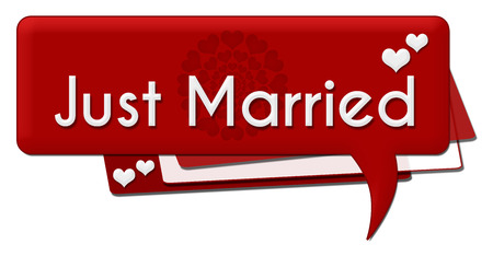 just: Just Married Romantic Comment Symbol