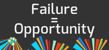 equals: Failure Equals Opportunity Dark Colorful Elements Stock Photo