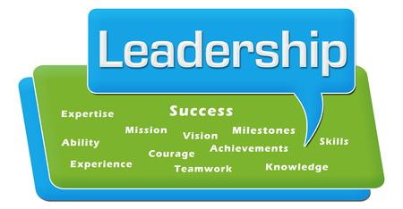 visionary: Leadership Comment Symbol Block Stock Photo