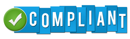 compliant: Compliant Blue Stripes with Tick Button