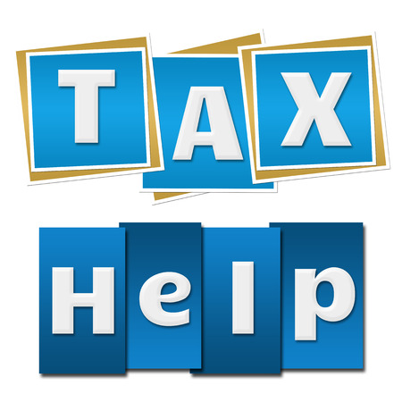 chartered accountant: Tax Help Blue Square Stripes
