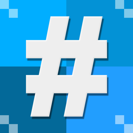 hash: Hash Symbol Blue Four Blocks