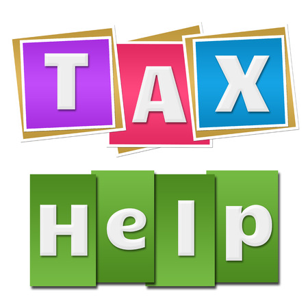 Tax Help Colorful Square Stripes
