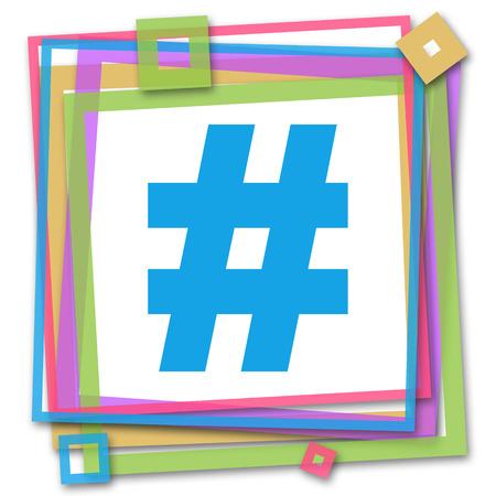 hash: Hash Symbol Colorful Frame