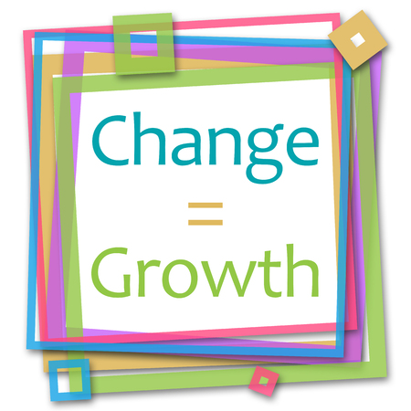 equals: Change Equals Growth Colorful Frame Stock Photo
