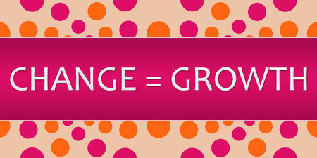 equals: Change Equals Growth Pink Orange Dots Double