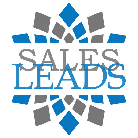 blue grey: Sales Leads Blue Grey Elements Square Stock Photo