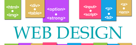 Web Design Colorful Stripes On Top Stock Photo