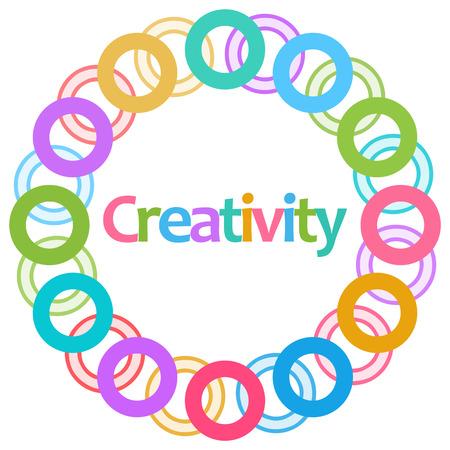 creativity: Creativity Colorful Rings Circular
