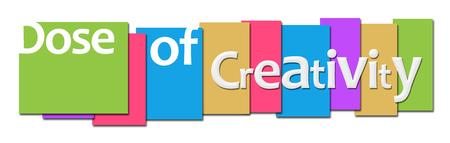 creativity: Dose Of Creativity Colorful Stripes Stock Photo