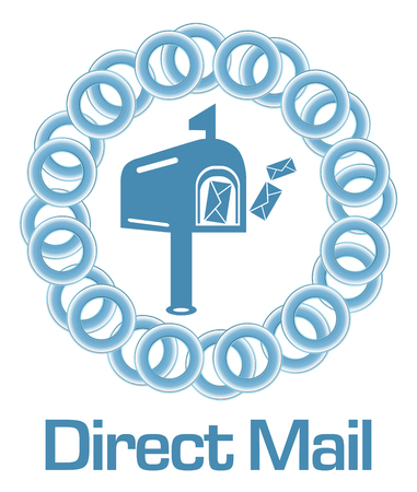 direct mail: Direct Mail Blue Rings Circular