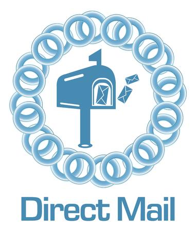 direct: Direct Mail Blue Rings Circular