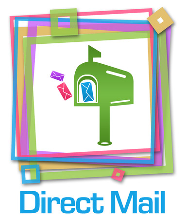 correspond: Direct Mail Colorful Frame Stock Photo