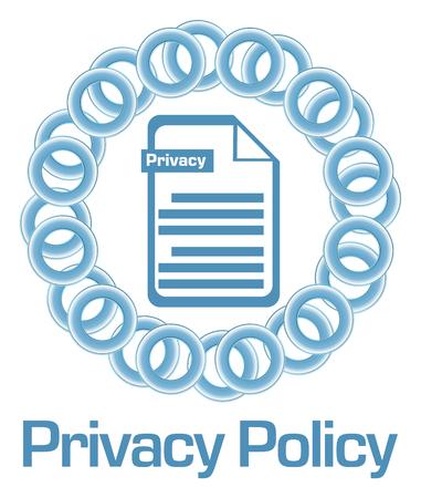 Privacy Policy Blue Rings Circular Stock fotó